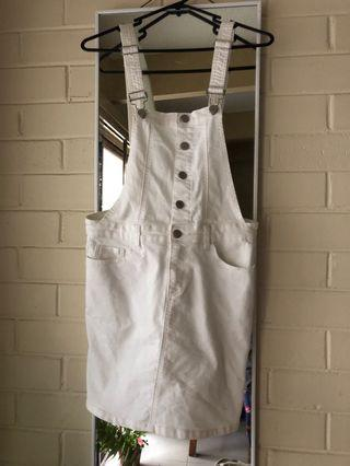 White Dungaree size 8