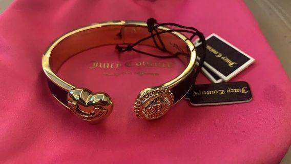 juicy couture手鐲 手鍊金色 全新 100% New 粉紅色 袋