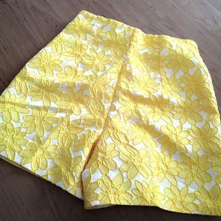Zara Yellow Shorts (XS)