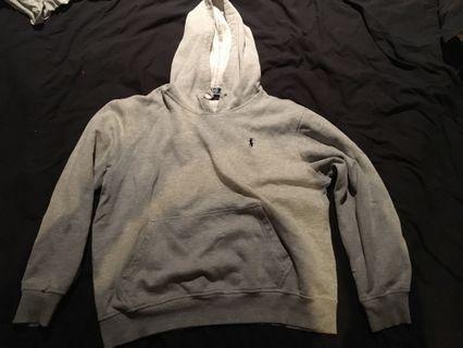 Ralph Lauren grey hoodie jumper