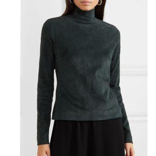 The Row Beatty suede turtleneck top (NP)