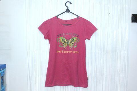 (DX) Kaos Pink Butterfly Girl #mauthr