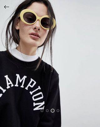 🚚 ASOS 90s Oval Yellow Sunglasses