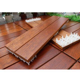 Balcony outdoor wooden decking