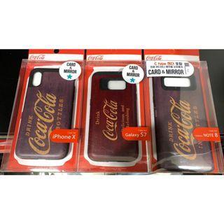 全新韓國製手機殼Coca Cola底(內有鏡及卡盒) - iPhone X #MTRtst