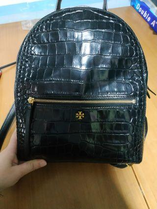Tory Burch croc embossed mini backpack 迷你鱷魚皮背囊背包