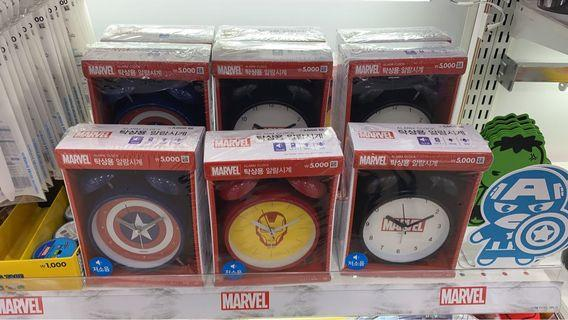 賣 Daiso Marvel 鬧鐘 Captain America and Iron Man