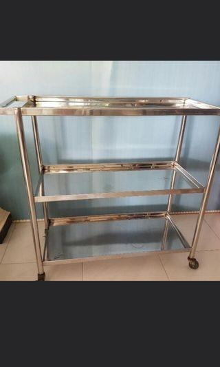 🚚 Stainless steel trolley 3 Layer