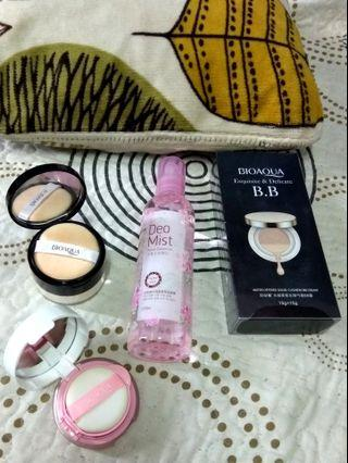 Bio Aqua Makeup Set/Foundation/Loose Powder/Blusher/Mist