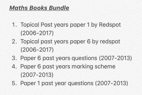 Maths alevel book bundle