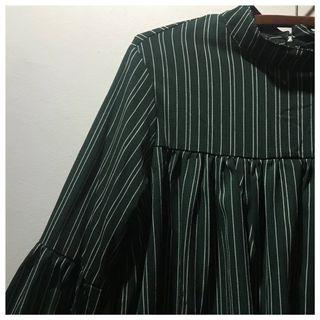 green striped blouse