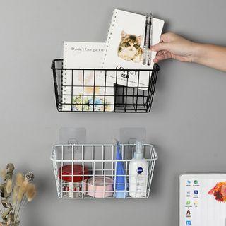 [Set of 3] Wire Wall Mounted Storage Organizer Basket