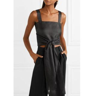 The Row Wei cropped silk-organza top (NP)