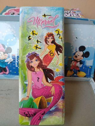 #mauthr kotak pensil Mermaid merk KiKy