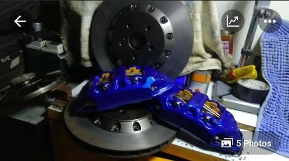 Nashin 330 brake kit for toyota wish 09