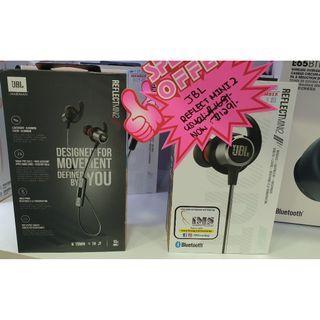 BRAND NEW Authentic JBL Reflect Mini 2 Wireless Headphone Harman Portable Bluetooth Earplug Earpiece Ear piece Earphones Earphone Phone Waterproof