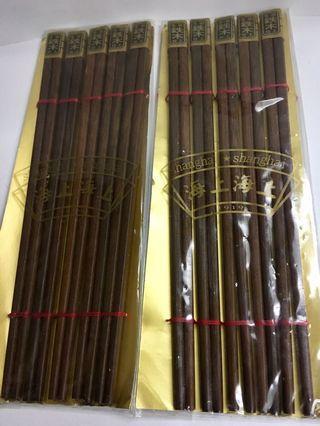 全新鉄木筷子兩包共十對