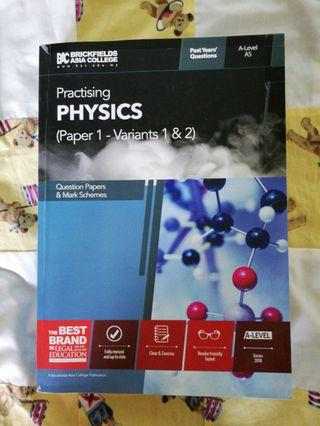 CIE A-LEVEL PHYSICS PAPER 1 PAST YEAR QUESTIONS  *MARK SCHEME INCLUDED*