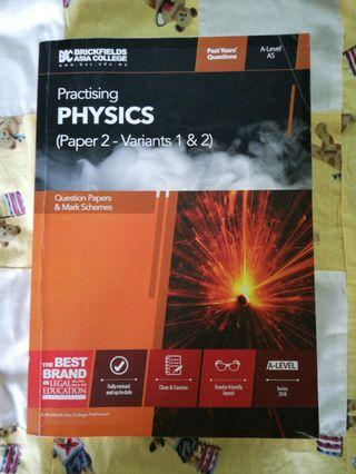 CIE A-LEVEL PHYSICS PAPER 2 PAST YEAR QUESTIONS *MARK SCHEME INCLUDED*