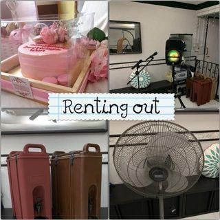 Renting out!