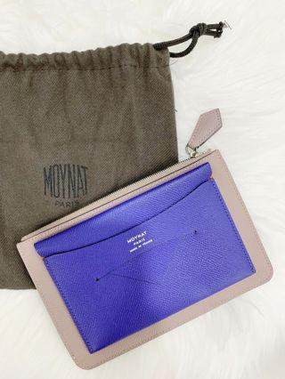Pre-Loved Original Moynat Enveloppe Pouch in Blue & Taupe