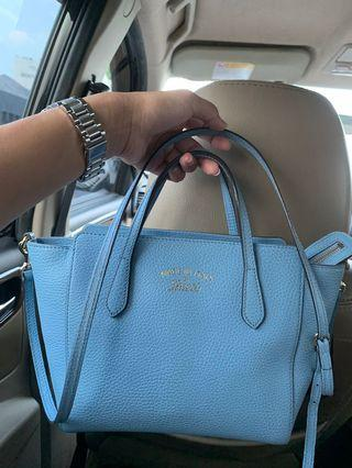 Gucci Swing Small Authentic Baby Blue