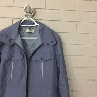 Vintage Blue Oversized Jacket