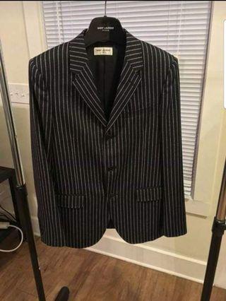 Saint Laurent Paris striped black blazer sz it 44