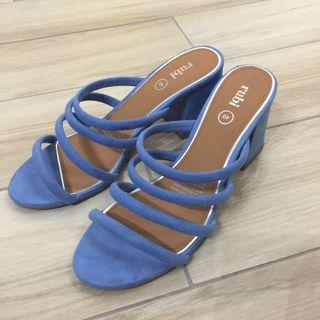 Blue Strap Heels