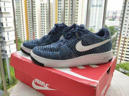 Nike Air Force 1 Flyknit Ultra (Navy Blue/White)