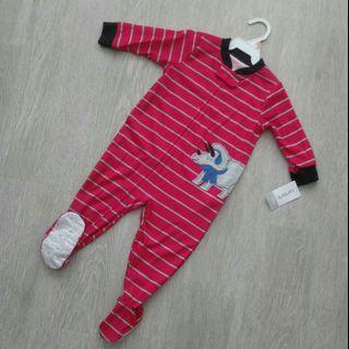 🚚 NEW Carter's Boy Long Sleeve Sleepwear / Playsuit 12M