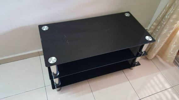 Black tempered-glass table