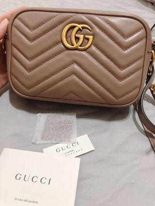 GUCCI Marmont駝色小包