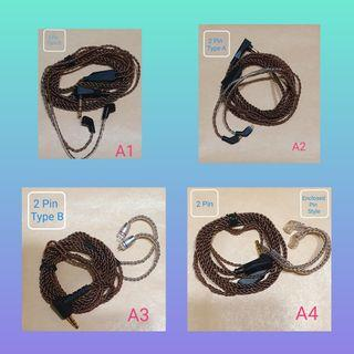 KZ Original 2-pin Oxygen-Free Copper Braided Stock Cable