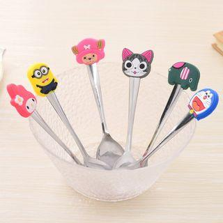 Stainless Steel Tea Spoon with Cute Silicon Cartoon