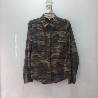Forever 21 Camo Army Shirt Outerwear