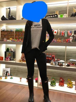 🚚 顯瘦挺身黑色西裝外套