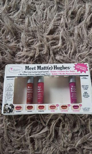 the BALM Meet Matt(e) Hughes Mini Lipsticks