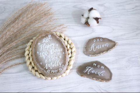 瑪瑙片擺設 #百日宴 #週年紀念 #生日 #結婚