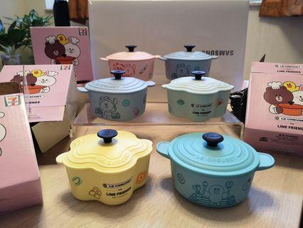 7-11 LE CREUSET x Line Friends 儲物盒 (HK$15/個)