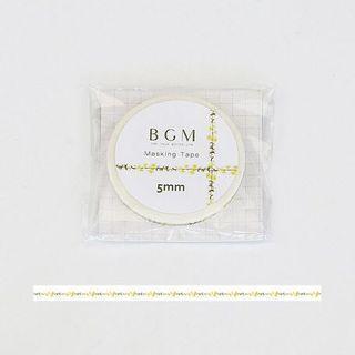 日本 BGM 小黃花和紙膠帶 mt yellow flower  Masking Tape MT