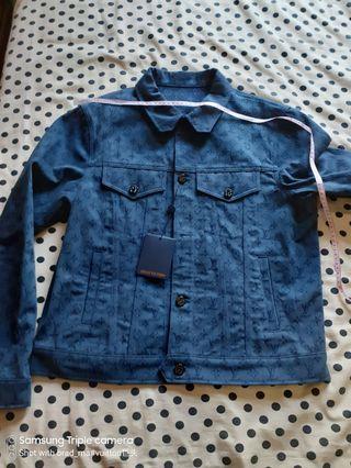 Louis Vuitton mens wear denim jacket blue