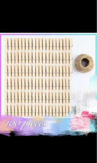 50 Wooden pegs (small 3.5cm)