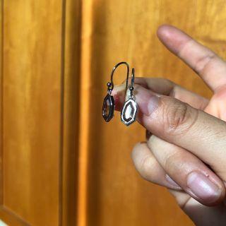 🚚 Smoky grey glass earrings