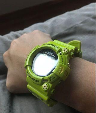 Very Rare Casio Kermit Frogman for Sale (Comes with Brand new Spare Strap)