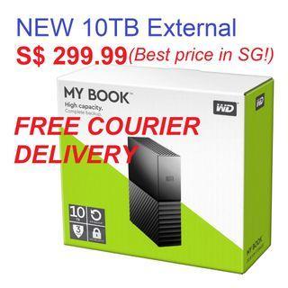 WD 10TB My Book Desktop External USB 3.0 - NEW