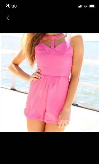Brand New Saboskirt Powder Pink Playsuit