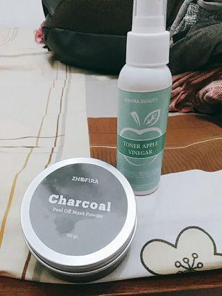 Peel Off Masak Charcoal dan Apple Vinegar