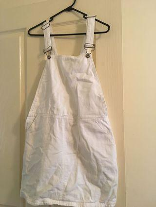 Topshop White Denim Dress Size 10