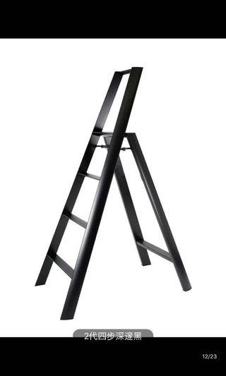 Black aluminum alloy ladder 黑色铝梯